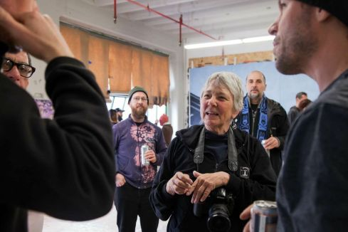 Martha Cooper surprises studio guests with a visit and takes time to chat about her work.