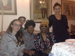 Partying with Faith Ringgold on her birthday!